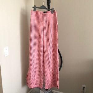 Zara pink polka dot pants